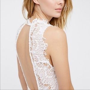 Free People Dresses - Free People Daydream Lace Bodycon Mini Dress NWT